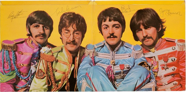 The Beatles' Sgt. Pepper's Lonely Hearts Club Band album autographed by all four band members